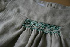 IMG_5661 Smocking, Heirloom Sewing, Fabric Manipulation, Simple Dresses, Steampunk, Girls Dresses, Smoke, Embroidery, Knitting