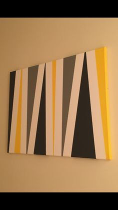Canvas art.... Acrylic paint... Sponge brushes... Painters tape
