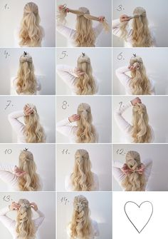 Two simple hair tutorials perfect for a wedding grace and braver hair in 20 Wedding Hairstyles Tutorial, Simple Wedding Hairstyles, Wedding Hair Tutorials, Bridesmaid Hair, Prom Hair, Pageant Hair Updo, Short Hair Styles Easy, Curly Hair Styles, Down Hairstyles