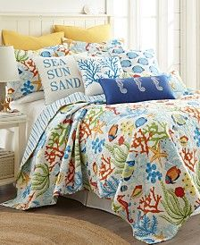Levtex Home Portofino Twin Quilt Set Bedding King Quilt Sets, Queen Quilt, Cheap Bedding Sets, Comforter Sets, Beach Bedding Sets, Coverlet Bedding, Quilted Bedspreads, Twin Quilt, Cozy Bed