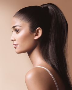 sleek high ponytail makeup - Google Search