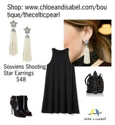 """Today's Featured Product: Souviens Shooting Star Earrings"" by thecelticpearl ❤ liked on Polyvore featuring Gap, Yves Saint Laurent and Givenchy"