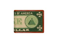 82041b48d45 We love this unique Dollar Bill Needlepoint Bi-Fold Wallet from Smathers    Branson!