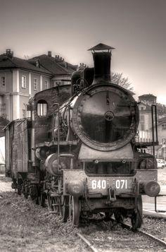 locomotiva FS Gr.640 al Museo Ferroviario Piemontese (Torino)