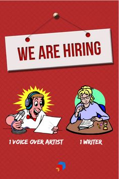 We're Hiring! Virtual Assistant, Writer, Thing 1, Sign Writer, Writers