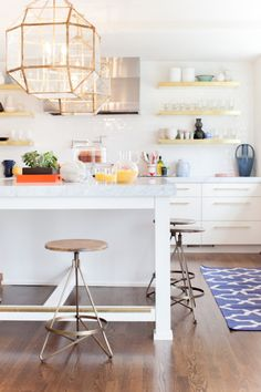 Add some geometric accents to your kitchen.