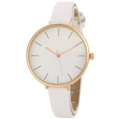 Color Block Quartz Watch White (34 RON) ❤ liked on Polyvore featuring jewelry, watches, accessories, zaful, quartz wrist watch, white jewelry, quartz watches, white quartz jewelry and white wrist watch