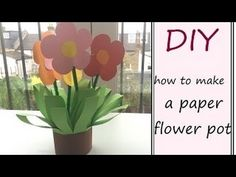 DIY: paper flower pot (easy craft idea for children)