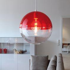 Lampe suspension design orion koziol rouge - Absolument Design