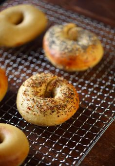 BAGELS MADE WITH EINKORN flour are absolutely delicious. If you have never made homemade bagels, you might not realize how many phases the dough goes through. It is mixed, proofed, and shaped and t...