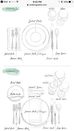proper way to set a table | Tasty Treats | Pinterest | Table ...