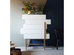 Lacquered storage unit with drawers GALENA - Miniforms