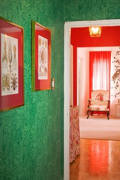 malachite wallpaper via design sponge