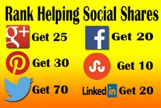 PR9 and PR10 Web Rank helping Social Shares / Social Signals from strong SEO friendly world famous social bookmarking sites whose likes by all search engines. These bring organic traffic and increasing SERP and business. #socialshares #socialsignals #seo