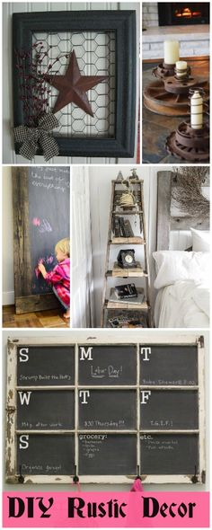 The best DIY projects & DIY ideas and tutorials: sewing, paper craft, DIY. Best Diy Crafts Ideas For Your Home DIY Rustic Decor Diy Rustic Decor, Country Decor, Farmhouse Decor, Diy Home Decor, Rustic Crafts, Room Decor, Diy Projects To Try, Home Projects, Home Crafts