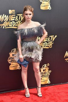 Holland Roden Cocktail Dress - Holland Roden got all frilled up in a  feathered gray Tadashi cf94527bb