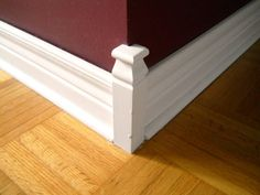 No Miter Corners Baseboard Trim, Baseboards, Baseboard Ideas, Woodworking Joints, Woodworking Plans, Diy Wood Projects, Home Projects, Cabinet Trim, Trim Carpentry