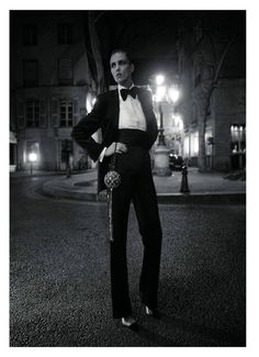 I Have A Degree In This!: Anja Rubik Mixes Masculine And Feminine For 'Vogue' Paris
