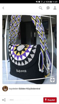 Fashion and Lifestyle Crochet Clutch, Crochet Purses, Knit Crochet, Tapestry Crochet Patterns, Tapestry Bag, How To Make Handbags, Knitted Bags, Crochet Accessories, Creations