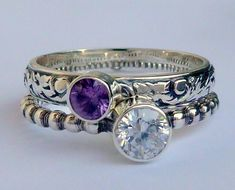 Stacking birthstone ring for moms... So cute!