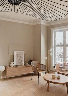Beige Living Rooms, Home Living Room, Living Room Designs, Living Room Decor, Bedroom Decor, Wall Decor, Home Design, Home Interior Design, Design Ideas