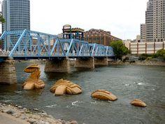 ArtPrize Nessy in Grand River Grand Rapids MI