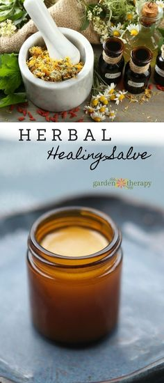 Make an all-purpose healing herbal salve using ingredients from the garden #salve #herbalsalve #healingsalve #naturalhealing