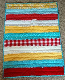 It's Good for the Heart: Strip Quilt