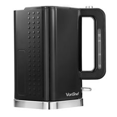 VonShef 3000W 1.7 Litre Black & Chrome Cordless Electric Rapid Boil Jug Kettle.  It's squarish and I like it for that £16.99