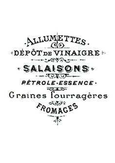 Etiqueta blanco y negro francesa alumettes.