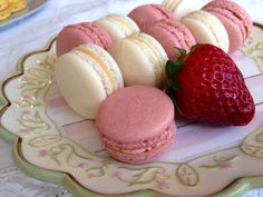 """Amazing strawberry macarons. I did the buttercream frosting and added the strawberry powder and strawberry """"spread"""" to flavor it. Plus the macaron batter worked well. I'll use this for other flavors too. Just replace the strawberry powder for other dry flavors, or add wet flavors to the meringue."""