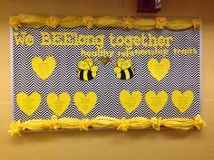 February bulletin board healthy relationship traits bees