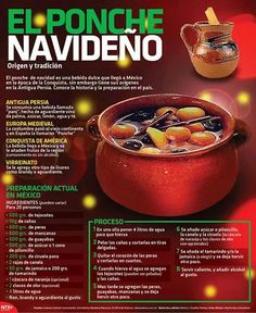 Ponche Navideño. Christmas Punch, Christmas Drinks, Holiday Drinks, Noel Christmas, Christmas Desserts, Holiday Recipes, Christmas Kitchen, Authentic Mexican Recipes, Mexican Food Recipes