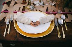 copper pipe napkin ring