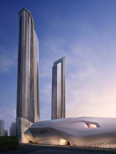 Zaha hadid, zaha hadid architects, Nanjing, china, Nanjing Culture and Conference Center, concert hall, mixed-use #architecture ☮k☮