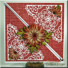 Criss Cross Card with Tutorial by Castlepark - Cards and Paper Crafts at Splitcoaststampers