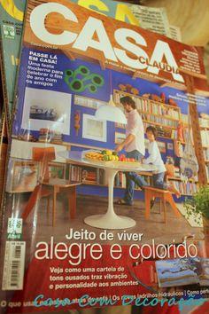 Casa Com Decoração- indicação de blog do mês na Revista Casa Claudia-novembro 2913