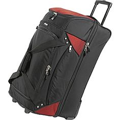 eBags Mother Lode is sturdy, loads of zips and storage options, can take a good share of abuse, and comes with a great guarantee. At $135 they are a pretty good deal for times when you need a decent sized rolling bag