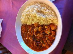 Chicken tikka masala with rice