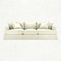 "Emory 104"" Slipcovered Sofa In Deso Snow $2999 at Arhaus"