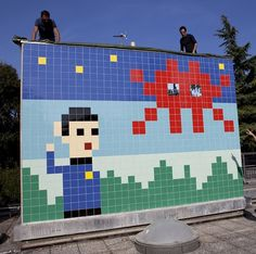 'Invader' Brings His Trademark 8-Bit Characters (Plus Spock!) to Ravenna