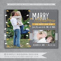 Hey, I found this really awesome Etsy listing at https://www.etsy.com/listing/208269121/save-the-date-christmas-card-marry