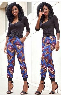 Pantalon en Wax ~African fashion, Ankara, kitenge, African women dresses, African prints, Braids, Nigerian wedding, Ghanaian fashion, African wedding ~DKK