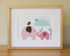 Elephant . Baby Nursery Wall Art . Children Wall Art