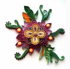 Квиллинг-задание № 1 - Бихайв (petals with quilling and beehive)