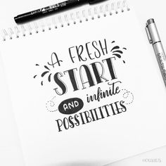 Handlettering: A fresh start Hand Lettering Quotes, Doodle Lettering, Creative Lettering, Typography Quotes, Brush Lettering, Lettering Design, Fonts Quotes, Calligraphy Doodles, Calligraphy Quotes