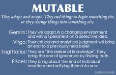 Mutable signs in astrology, which are Sagittarius, Pisces, Gemini and Virgo, and how they engage with the world.