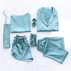 Cute Sleepwear, Sleepwear Sets, Sleepwear Women, Loungewear, Pyjamas, Silk Pajamas, Silk Pjs, Pajama Outfits, Sexy Outfits