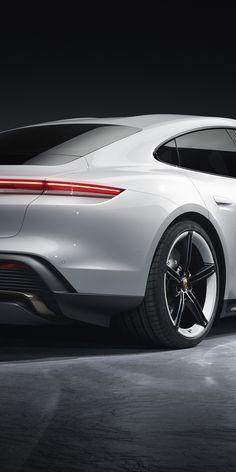 Porsche Taycan Turbo S, rear view, 2019 wallpaper Porsche 718 Boxster, Porsche Taycan, Gta Cars, Audi Cars, Amoled Wallpapers, Car Wallpapers, Porsche Mission, Porche 911, Fancy Cars