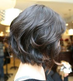 Nowadays, short hairstyles and wavy hair = trendy look! In our gallery you will find Short Wavy Hairstyles that you will totally adore! Short hairstyles are. Medium Hair Cuts, Short Hair Cuts, Medium Hair Styles, Curly Hair Styles, Curly Short, Short Bobs, Medium Curly, Curly Bob, Short Styles